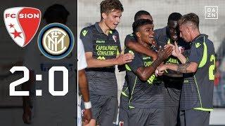 Erschöpfte Mailänder unterliegen Sion: FC Sion - Inter Mailand 2:0 | Highlights | DAZN