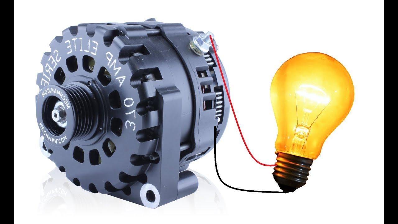 Self Excite an Alternator with a DC Generator DIY - Motor Generator