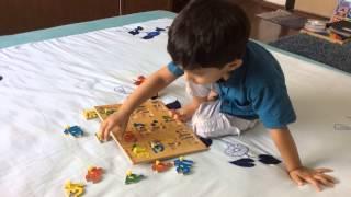Learning Indian Language_1: Moksh Identifies Hindi/ Marathi Varnakshar (Letters) With A Puzzle