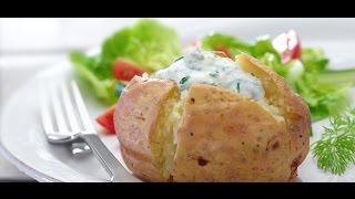 Запеченный картофель с кремом из тунца