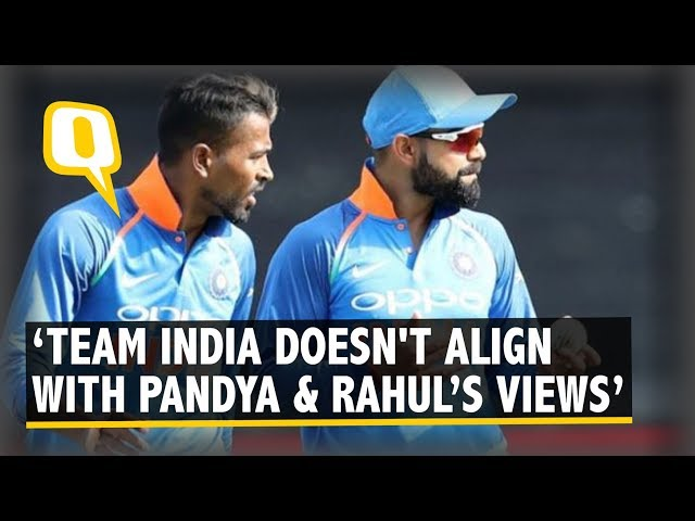 Kohli Distances Team India From Pandya-Rahul 'Koffee' Controversy | The Quint