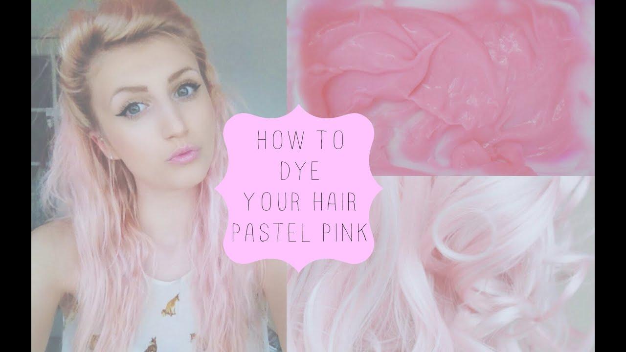 dye hair pastel pink