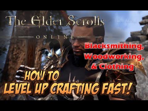 Elder Scrolls Online: Level Crafting Skills FAST (Blacksmithing,  Woodworking, Clothing) - SteamStax