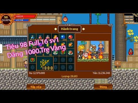 Ninja School Online : Sử Dụng 1000 Tre Vàng Trăm Đốt Cho Tiêu 98 F16 Sự Kiện Giỗ Tổ Hùng Vương 2020