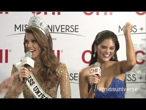 2017 miss universe miss france first live interview youtube - Miss france 2017 interview ...