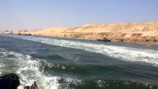 اليوم الذى تحدث عنه العالم فى أول عبور للسفن قى قناة السويس الجديدة 25يوليو2015