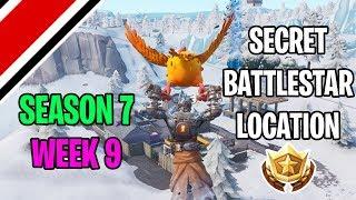 Fortnite Season 7 Week 9 Secret Battlestar Location (Snowfall Challenges)