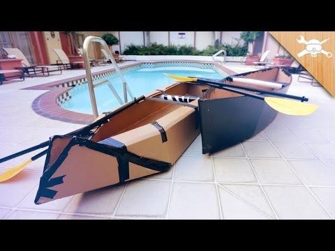 Building $20 Cardboard Boats!