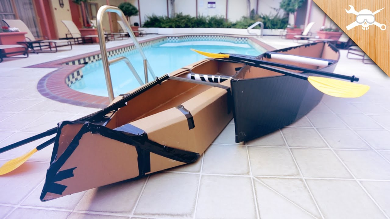 Building $20 Cardboard Boats! - YouTube
