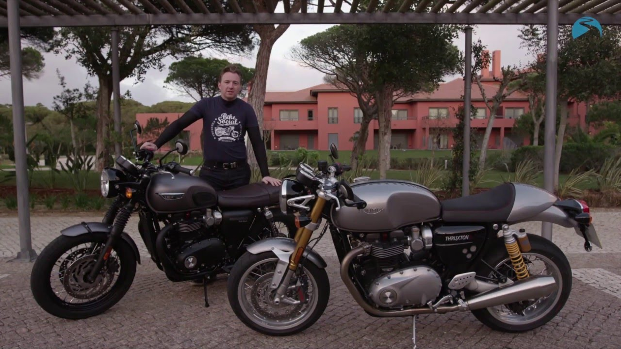 Triumph Thruxton R And T120 Black Bonneville 2016 Road Test Bike