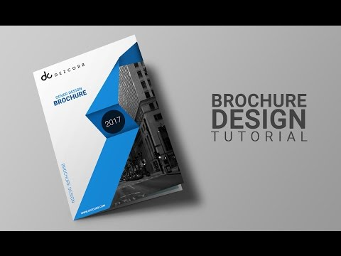 how to design brochure in photoshop cs6 | Brochure | DataSheet Design Tutorial