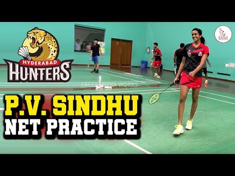 P.V Sindhu  Practice || Hyderabad Hunters || PBL || Eagle Media Works Mp3