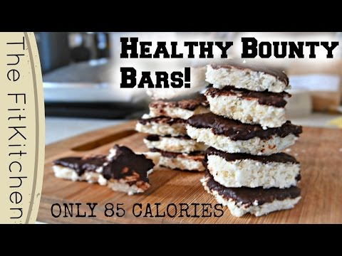 Chocolate Coconut Bites | HEALTHY BOUNTY BARS | TheFitKitchen