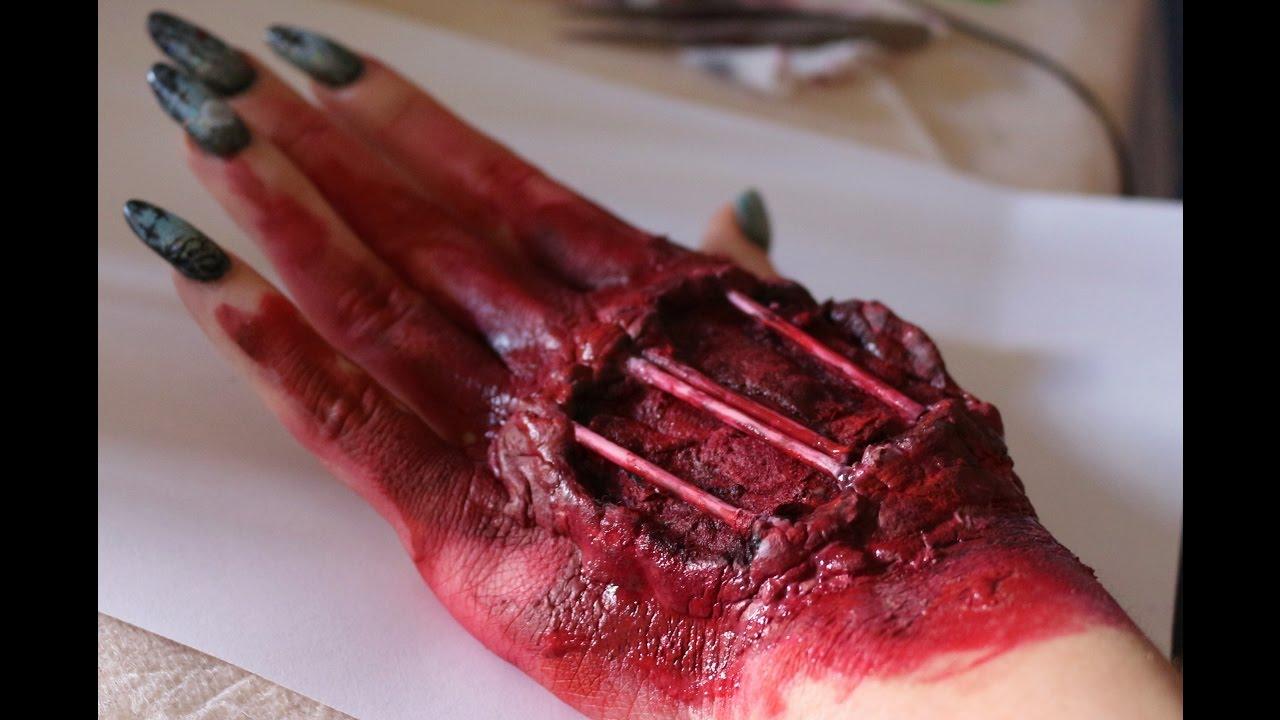 Halloween Makep Hand Machiaj Halloween Pe Mana Sfx Youtube