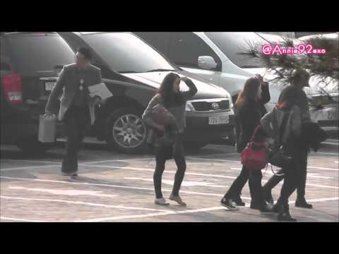 130131 1 11:35 fx @ Seoul Music Awards 2013 하이원 서울가요대상 Before the rehearsal