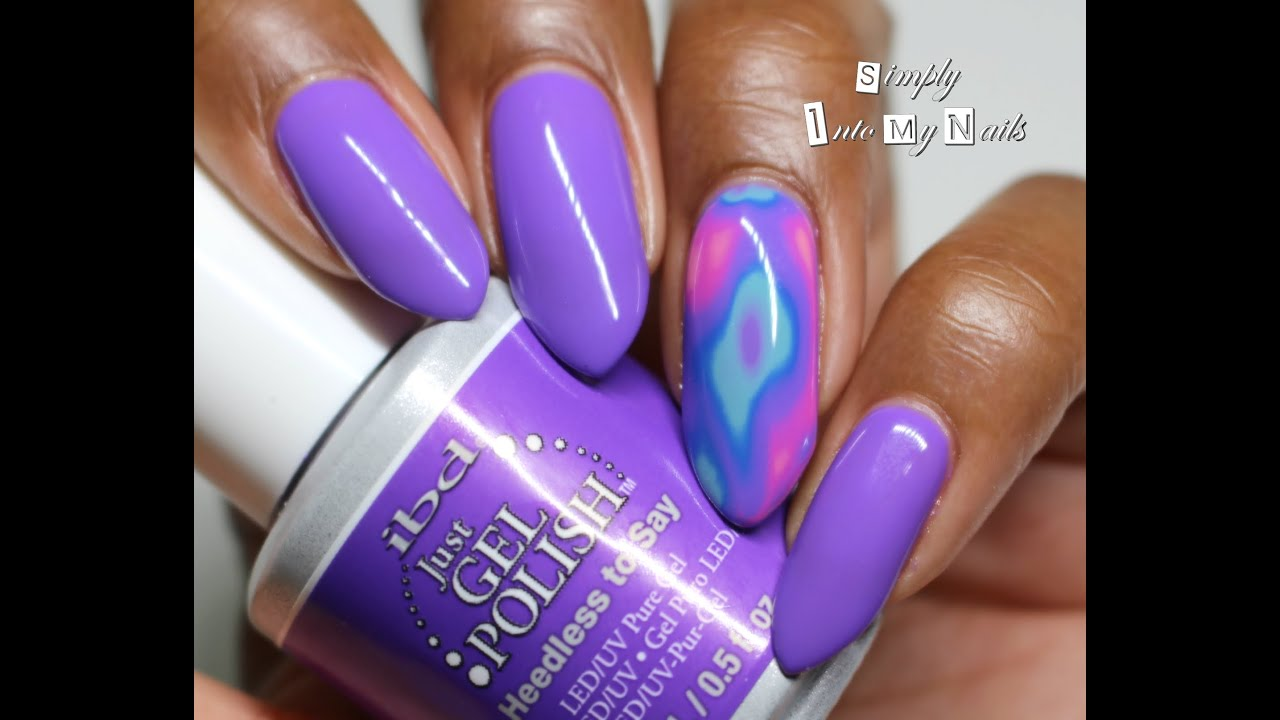 Quick Lava Nails Tutorial - YouTube