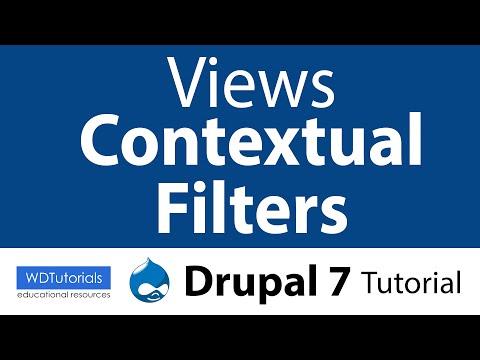 Views : Contextual Filters (Drupal Tutorial)