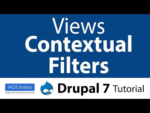 Drupal 7 - How To Use Views Contextual Filters - YouTube
