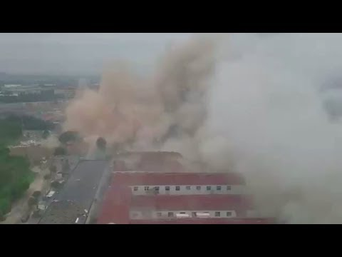 Huge explosion rocks Ningbo city China