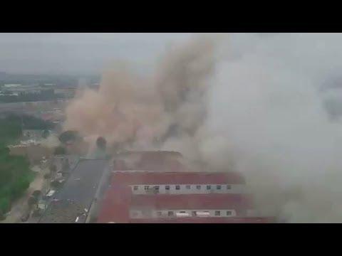 Huge explosion rocks Ningbo city China