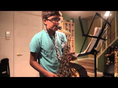 "Neil Patel Practices ""Tum Hi Ho"" on Alto Sax"