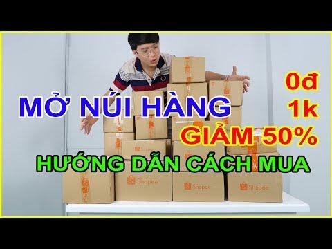 Thử mua ĐỐNG ĐỒ 0đ (Free), 1k, Sale 50% trên Shopee. Hướng dẫn săn hàng 1000đ | MUA HÀNG ONLINE