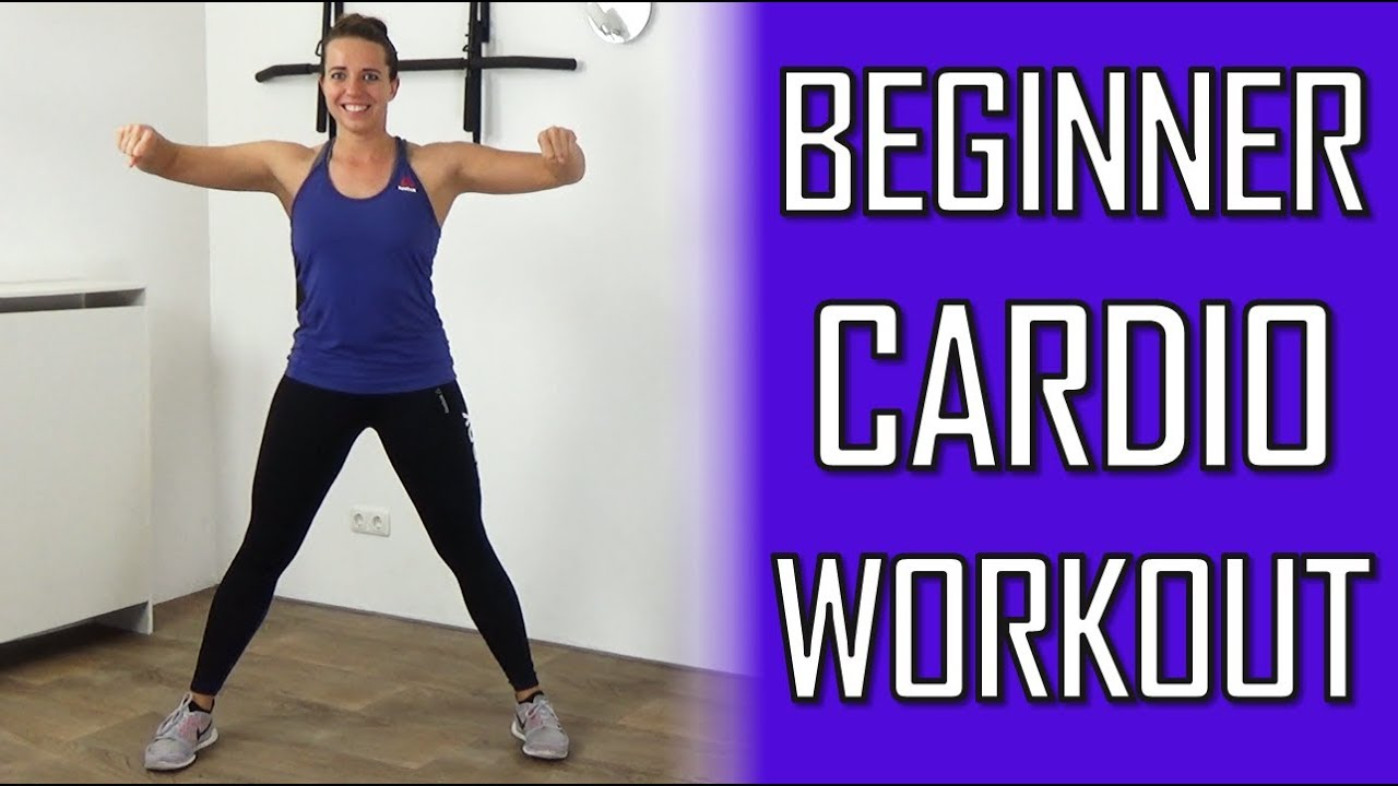 20 Minute Cardio Workout for Beginners – Low Impact Cardio Beginner  Exercises at Home – No Equipment