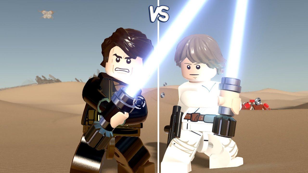 lego star wars the force awakens anakin skywalker vs