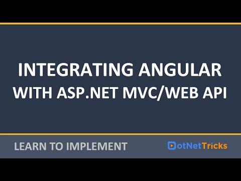 Angular Video Tutorials: Integrating Angular With Web API Or ASP.NET MVC