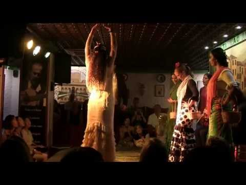 Pokaz Tablao Flamenco Albayzín, GRANADA, 6 lipiec 2015 r.