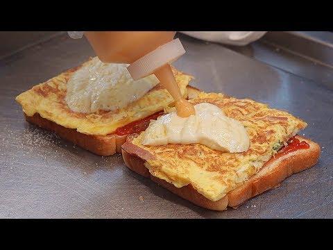 Mozzarella Cheese Egg Toast – Korean Street Food / 문토스트 홍대점