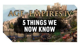 5 Things We Now Know - Age of Empires 4 | Expanded Timeline, Unique Civs, Release Information