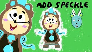 How to Draw Cogsworth from Beauty and the Beast - How to Add Speckle to your Drawing - Lets Draw