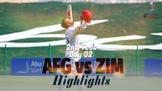 Afghanistan vs Zimbabwe Highlights | 2nd Test | Day 2 | Afghanistan vs Zimbabwe in UAE 2021