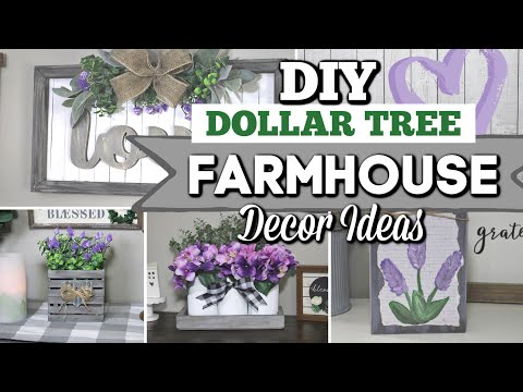 Dollar Tree DIY FARMHOUSE DECOR IDEAS 2020 |  DIY High-End Home Decor Ideas | Krafts By Katelyn
