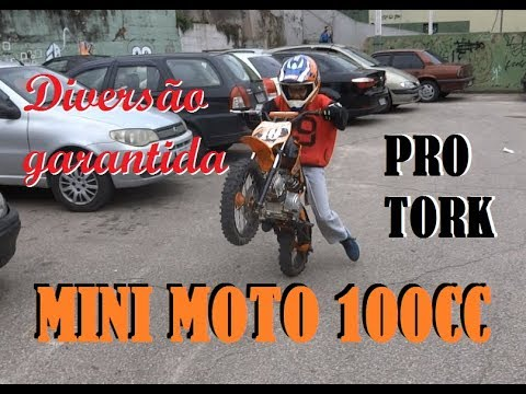 Mini Moto ProTork TR 100F - Diversão Garantida