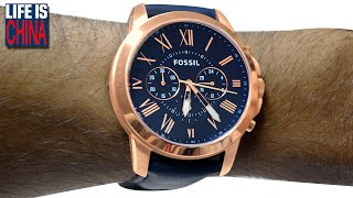 НАРУЧНЫЕ ЧАСЫ FOSSIL FS4835. Fossil fashion Wrist Watch Grant Chronograph (товары из Ebay)