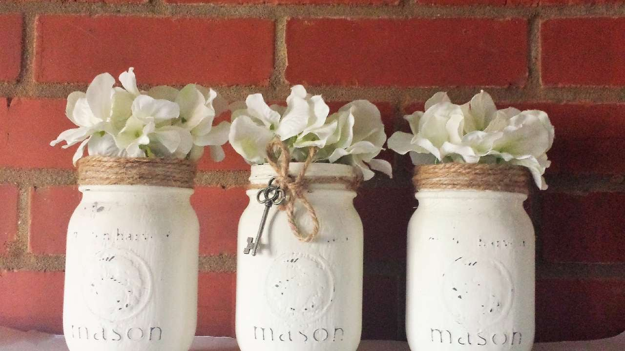 Mason Jar Decorations Part - 37: How To Make Beautiful Rustic Mason Jars - DIY Crafts Tutorial -  Guidecentral - YouTube