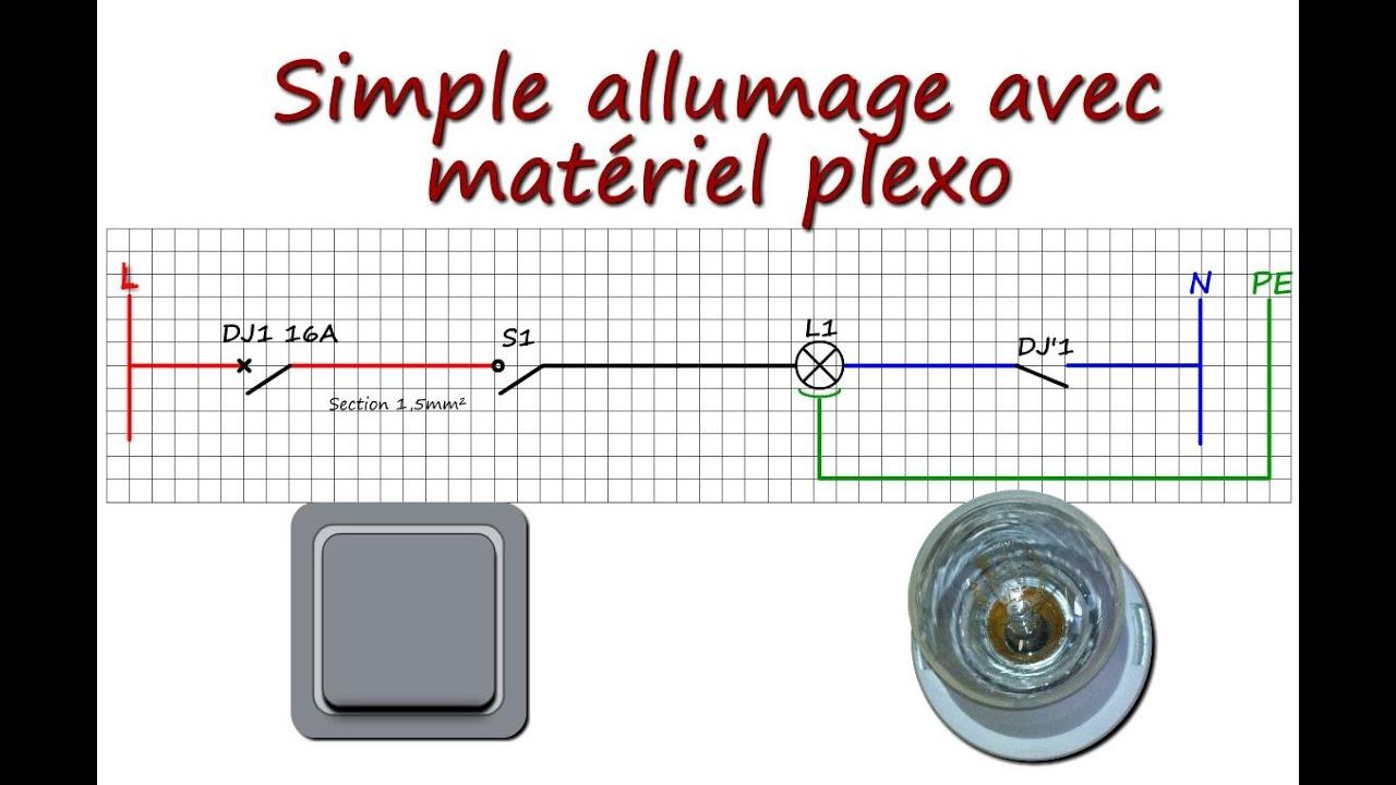 Raccorder un simple allumage avec du mat riel plexo youtube for Installer un va et vient avec 2 interrupteurs