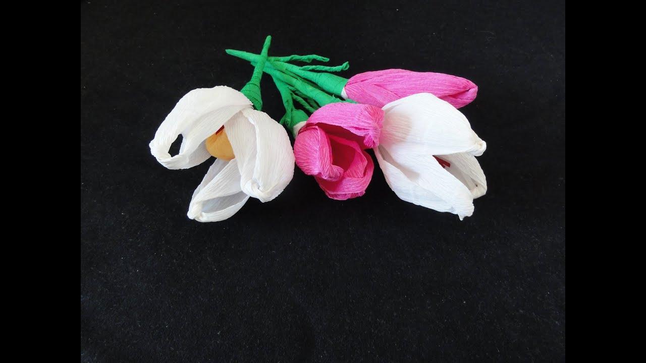 how to make crepe paper flowers tulpe basteln aus. Black Bedroom Furniture Sets. Home Design Ideas