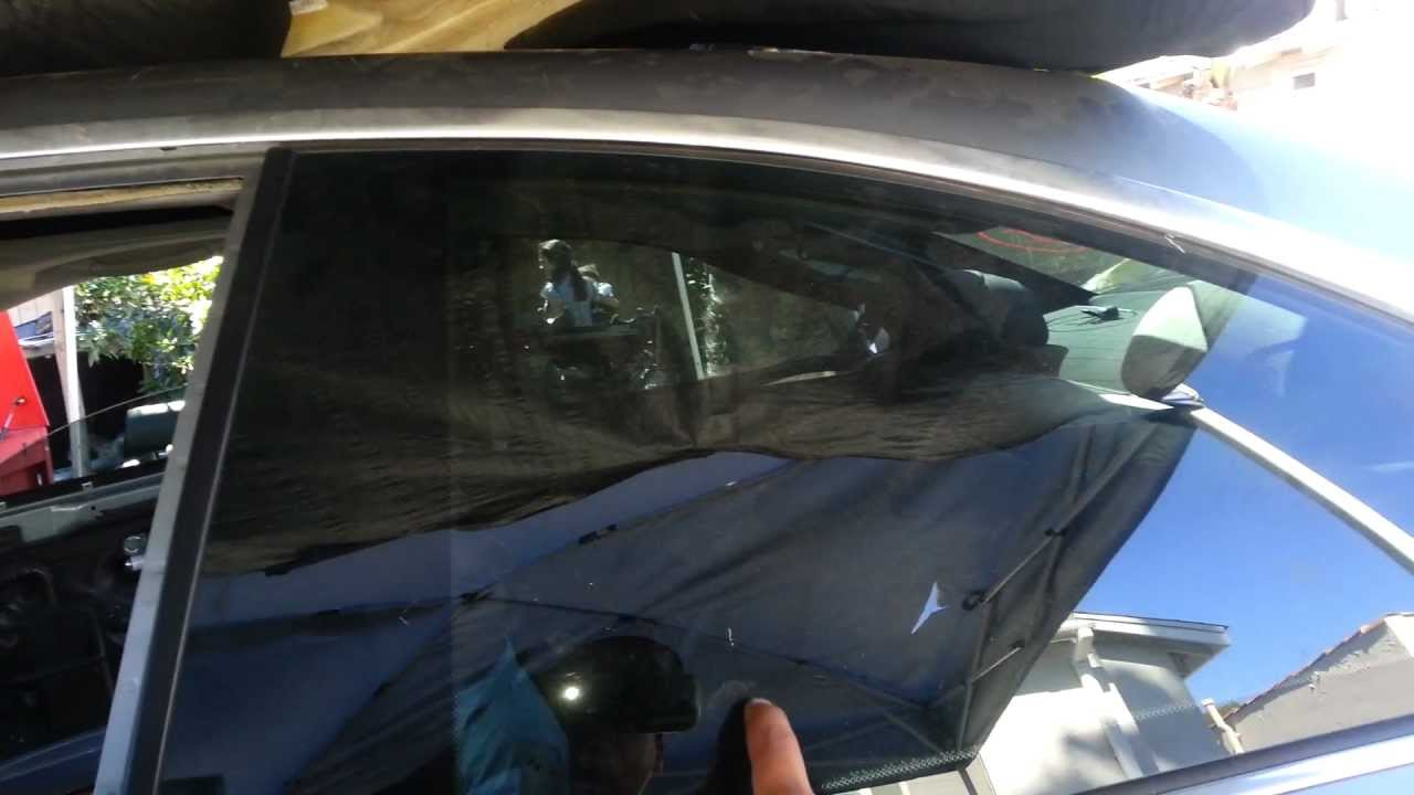 BMW E46 M3 330ci 325ci Rear Quarter Window Glass Removal ...