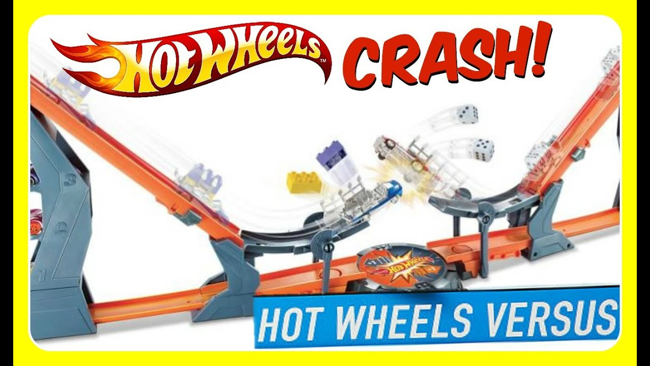 Hot Wheels Versus Track Set! HUGE CRASHES! Hot Wheels Versus Playset ...