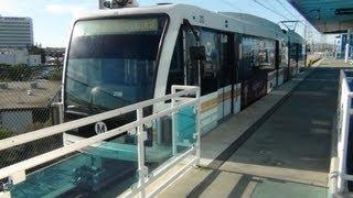 Metro Green Line. Train ride from Redondo Beach to Norwalk