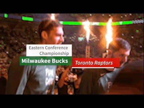 Drake plays for Toronto Raptors vs Milwaukee Bucks game 1 Eastern conference championship