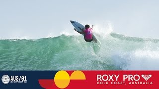 Stephanie Gilmore Finds the Barrel & Makes a Comeback - Roxy Pro Gold Coast 2017 Round One