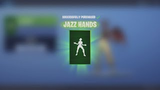 Spending 200 Fortnite V-Bucks NEW Dance Emote 'JAZZ HANDS' (Fortnite Battle Royale Today)