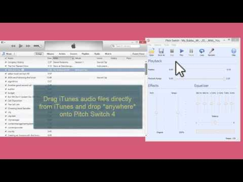 How to open iTunes audio files with Pitch Switch 4.