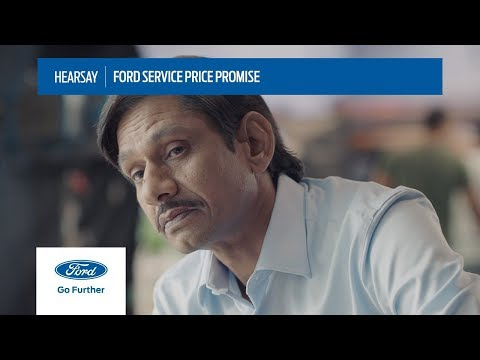 Hearsay | Ford Service Price Promise