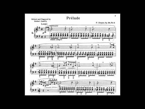 Frédéric Chopin  Prelude in E-Minor  + Sheet Music