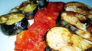 Скумбрия в Микроволновке и Вкусный Обед Готов:) | Roasted Mackerel with Vegetables